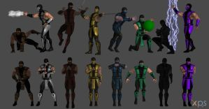 Mortal Kombat Ninja Poses by WildGold