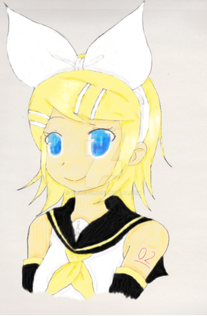 Kagamine Rin Coloring Practice by BDOG375