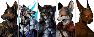 Flat Busts Batch 2-3 by tatiilange