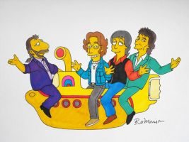 The Beatles - The Simpsons style by janston