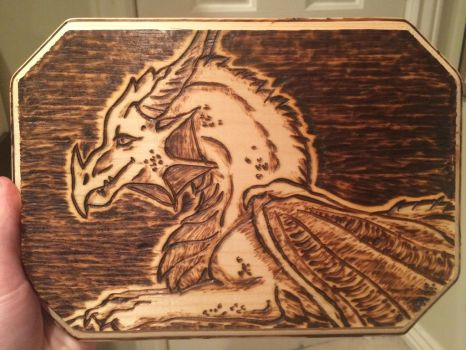 Dragon wood burning~ by AstaraBriarart