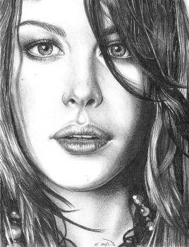 Liv Graphite Portrait 1 (2012) by riansart