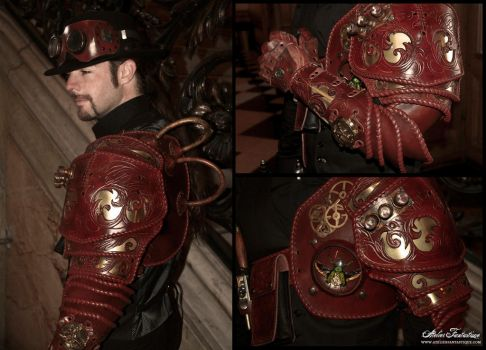 Insectarium steampunk armor -2 by AtelierFantastique