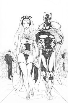 Red carpet - Storm and Black Panther by diegomagno