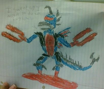 Gigan's hugging accident by ChevyRW
