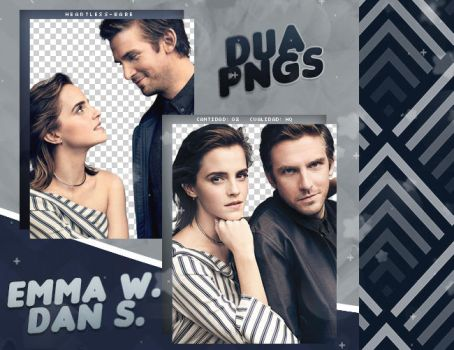 PACK PNG 578 // EMMA WATSON AND DAN STEVENS by DUA-PNGS