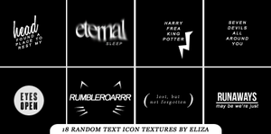 Random Text Icon Textures by elizacunningham