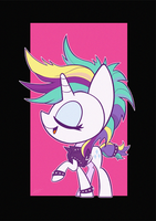 Chibi Punk Rarity by Dori-to