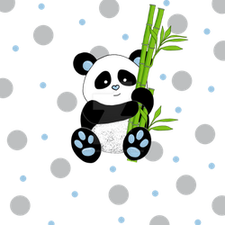 Panda with bamboo by stockmichelle