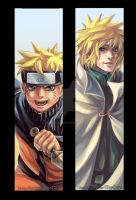 NARUTO and Yondaime_BookMARKs by SheCow