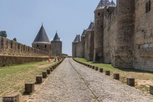 Carcassonne - upper outer courtyard by CyclicalCore