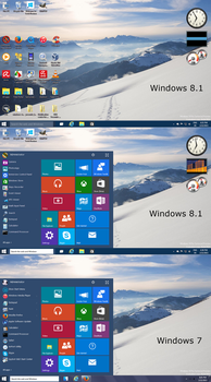 Windows10 Tech Preview Startmenu for all Windows by PeterRollar