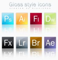 Gloss Style Icons by bruninhoo