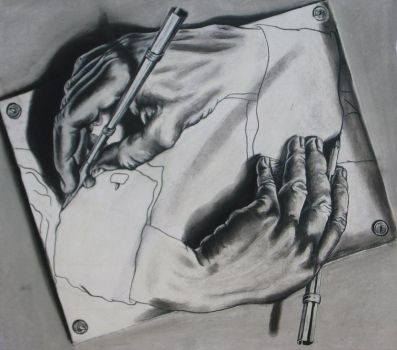 Drawing Hands by OhmSymbol