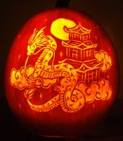 Dragon Pumpkin Carving 06 by Ciarra