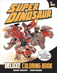 Super Dinosaur Coloring Book Cover by JasonHoward