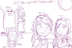 Halloween minni comic front page sketch by NatalieGuest