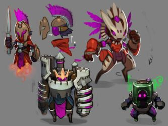Spiral Knights: Unused Armor Roughs by Malakym