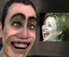 Hillary Clinton is the GMan by NeroTheViper