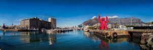 Cape Town Harbor panoramic by Justinlite