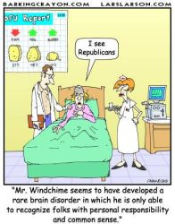 I See Republicans cartoon by Conservatoons
