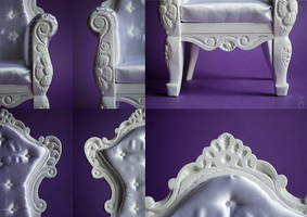 White Armchair MSD size Details by Katja-dollab