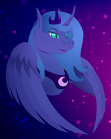 Nightmare Luna by MidnightSix3