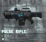 Pulse rifle weapon concept by ProxyGreen