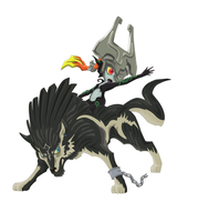 Midna and Wolf Link by The-Bryce-Is-Right