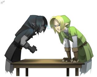 Link Vs DLink Staring Contest by IJKelly