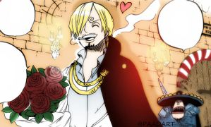 One Piece Chapter 850+ Sanji Pudding bedroom by Amanomoon