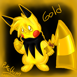 gold the relaxed rainbowchu by Pikachim-Michi