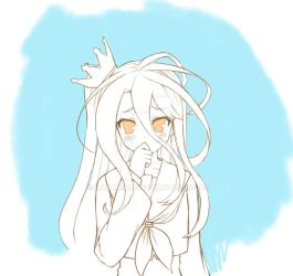 SImple doodle of Shiro from No Game No Life by hanamina3