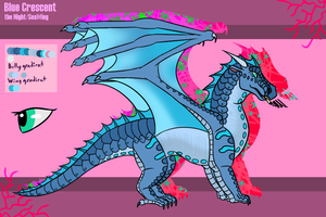 Blue Crescent the Night/SeaWing 2017 ref by WolfiiWiingz
