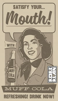 Muff Cola Vintage Ad by roberlan