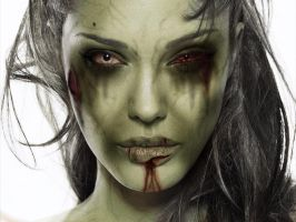 Angelina Jolie Zombie by element7374
