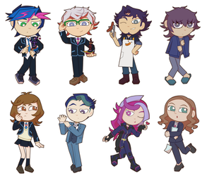 VRAINS cartoon style by BlackThunder-chan