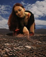 Playing with the city (gift from Danforddan) by Amarie-Tinuviel