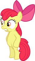 Apple Bloom standing straight by dasprid
