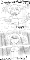 .::CroMa::.  3 Months into Maka's Pregnancy by SakiCakes