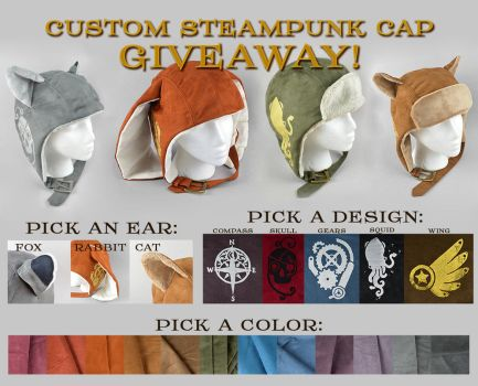 Custom Steampunk Cap Giveaway [Closed] by SewDesuNe