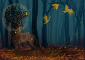 Ghosts of the forest by MUSONART