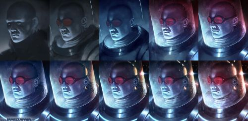 Mr. Freeze Process by jameszapata
