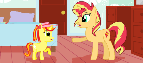 Sunny Rays asks Sunset alot of questions by ThomasZoey3000