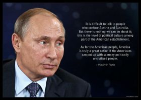 Putin on the Level of Political Culture in the US by KeldBach