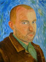 Self-Portrait with Jacket by peterpesta