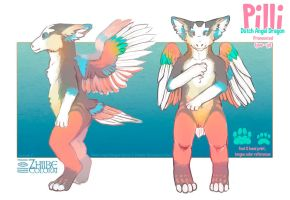 Pilli - Dutch Angel Dragon RefSheet by Zhiibe
