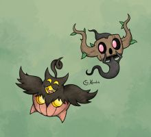 Pumpkaboo and Phantump