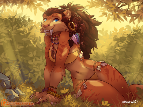 Sabertooth Lady - April Patreon Vote Winner by Zummeng