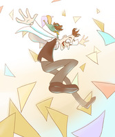 Falling into an Adventure! by lizbomb